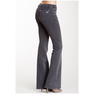 MiH Marrakesh Mid-Rise Kick Flare Jeans in Greyson